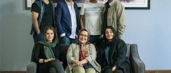 شهاب حسینی کنار پژمان جمشیدی و ساره بیات در فیلم «لابیرنت»